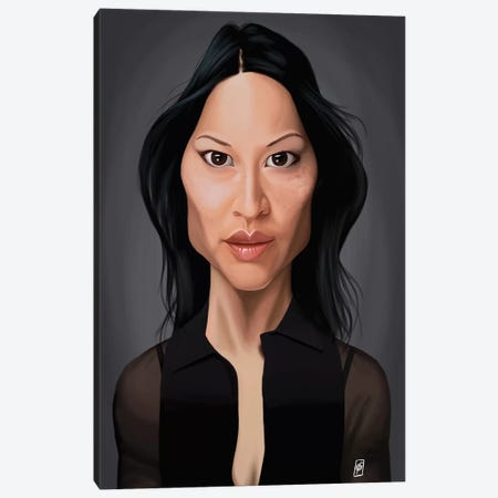 Lucy Liu Canvas Print #RSW149} by Rob Snow Canvas Wall Art