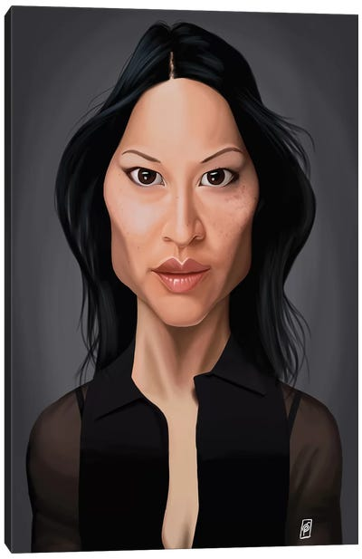 Lucy Liu Canvas Art Print