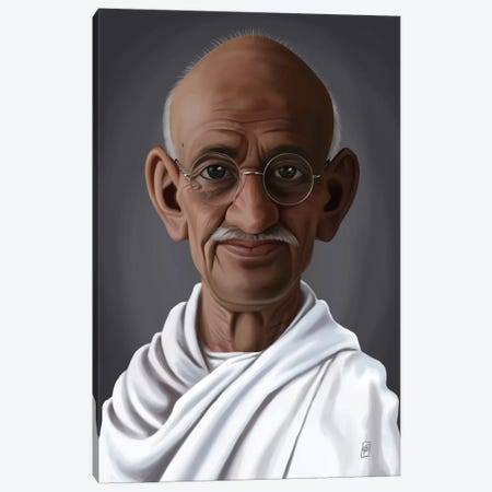 Mahatma Gandhi Canvas Print #RSW151} by Rob Snow Canvas Print