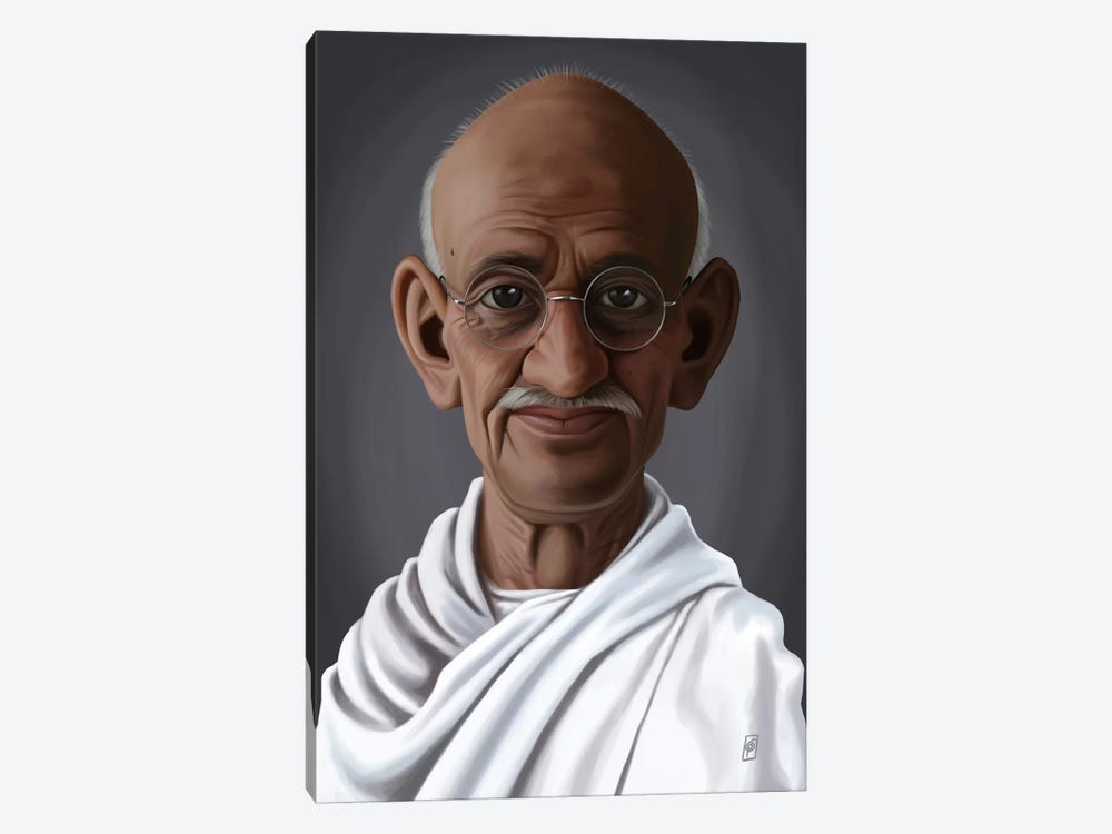 Mahatma Gandhi by Rob Snow 1-piece Canvas Art