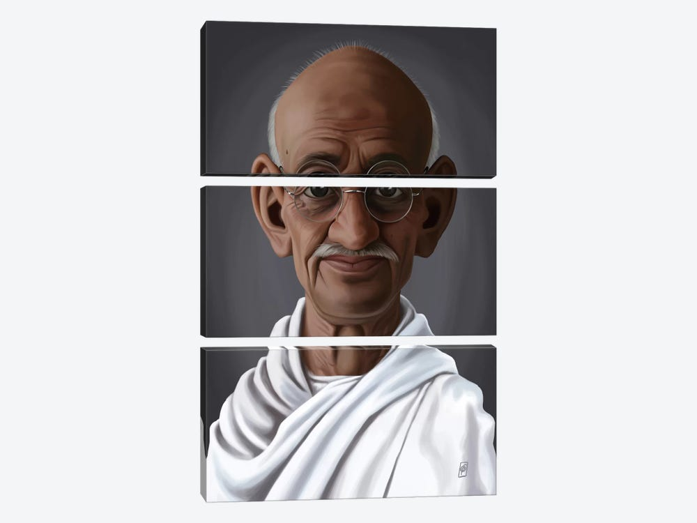 Celebrity Sunday Series: Mahatma Gandhi by Rob Snow 3-piece Canvas Wall Art