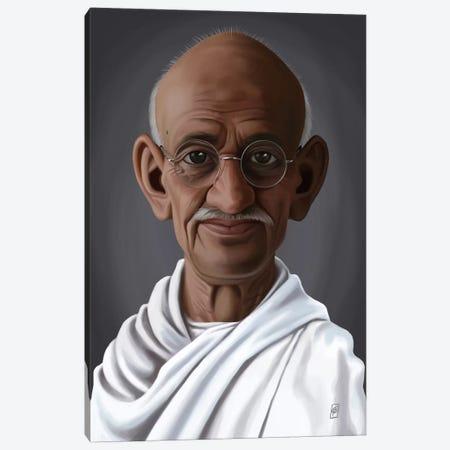 Mahatma Gandhi Canvas Print #RSW151} by Rob Snow Canvas Print