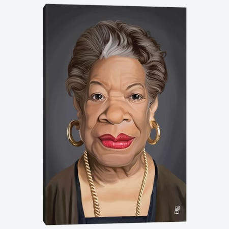 Maya Angelou Canvas Print #RSW152} by Rob Snow Canvas Art Print