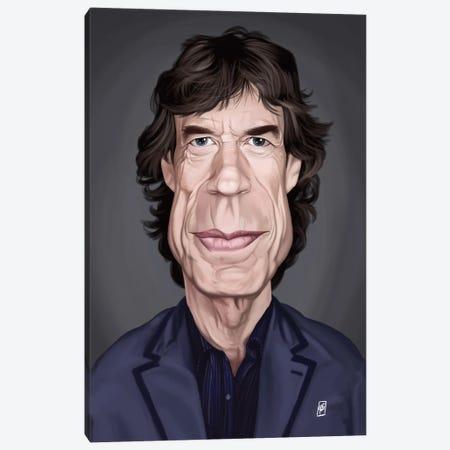 Mick Jagger Canvas Print #RSW155} by Rob Snow Canvas Wall Art