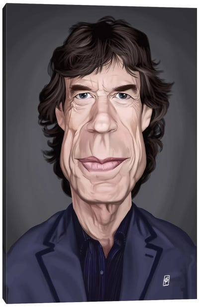 Celebrity Sunday Series: Mick Jagger Canvas Art Print