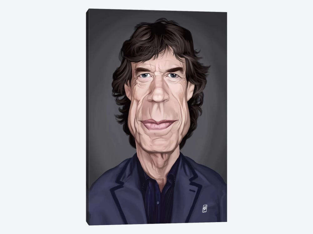 Celebrity Sunday Series: Mick Jagger by Rob Snow 1-piece Canvas Art