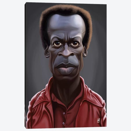 Miles Davis Canvas Print #RSW156} by Rob Snow Canvas Artwork
