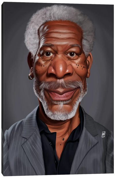 Morgan Freeman Canvas Art Print