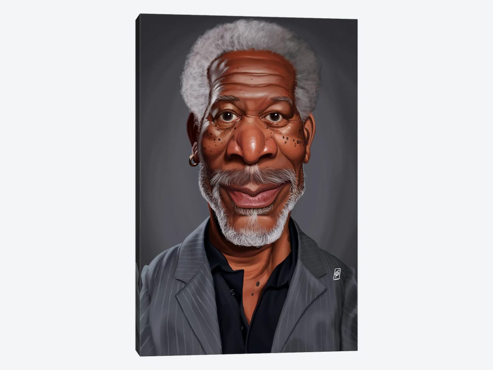 Morgan Freeman by Rob Snow 1-piece Canvas Print