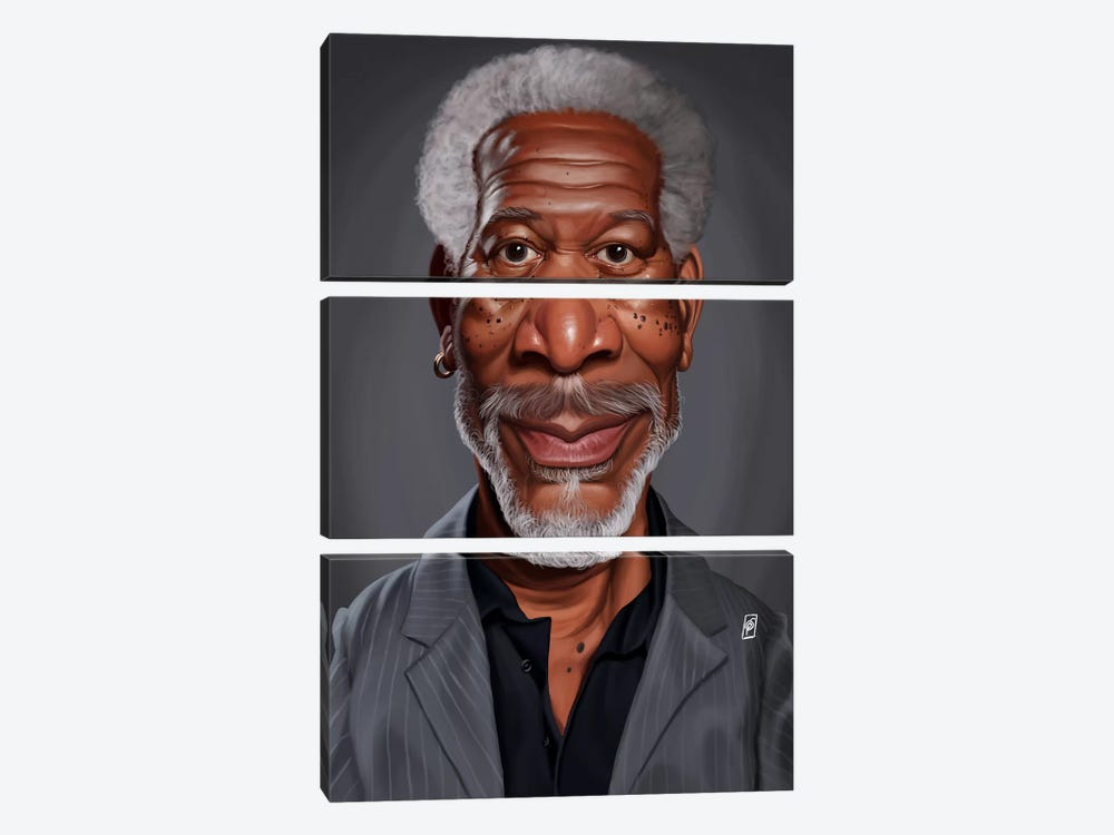 Morgan Freeman by Rob Snow 3-piece Art Print