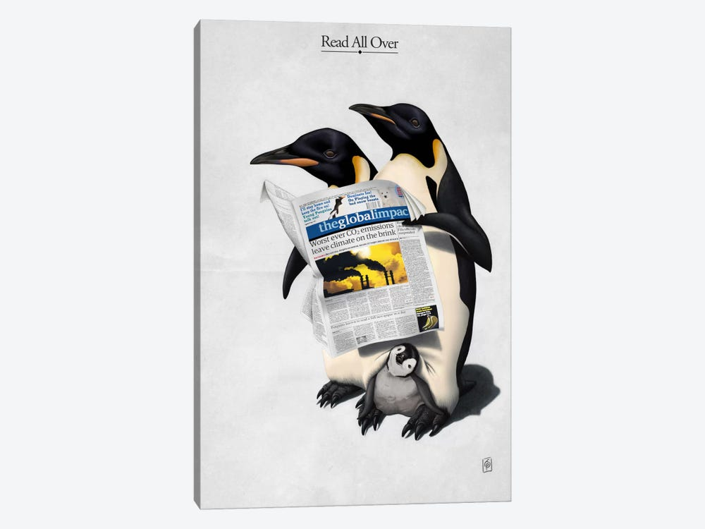 Read All Over by Rob Snow 1-piece Canvas Print