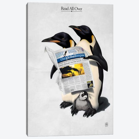 Read All Over Canvas Print #RSW15} by Rob Snow Canvas Print