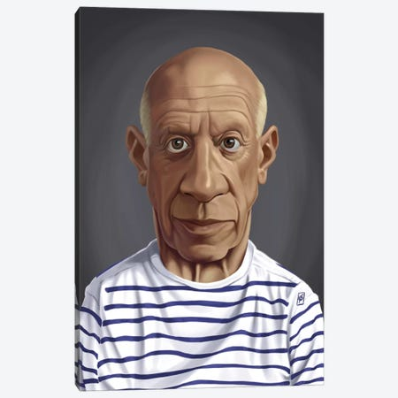 Pablo Picasso Canvas Print #RSW160} by Rob Snow Canvas Artwork