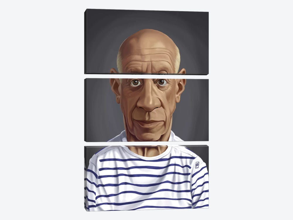 Celebrity Sunday Series: Pablo Picasso by Rob Snow 3-piece Canvas Wall Art