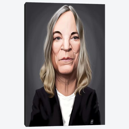 Patti Smith Canvas Print #RSW161} by Rob Snow Canvas Wall Art