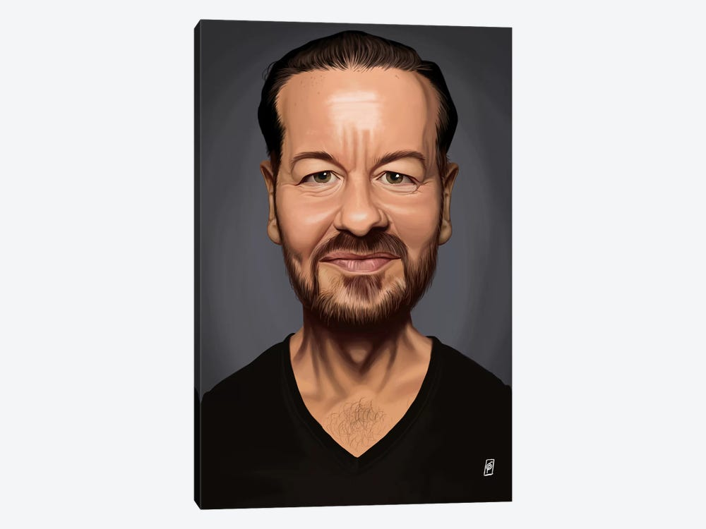 Ricky Gervais by Rob Snow 1-piece Canvas Print