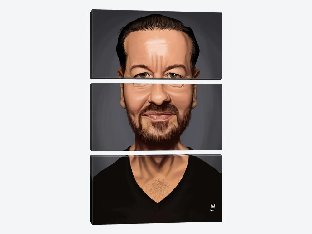 Ricky Gervais by Rob Snow 3-piece Art Print