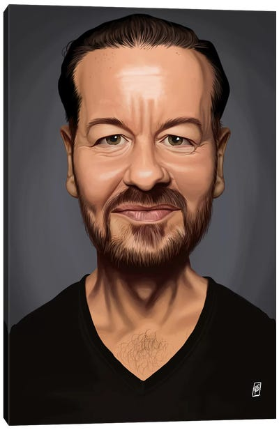 Ricky Gervais Canvas Art Print