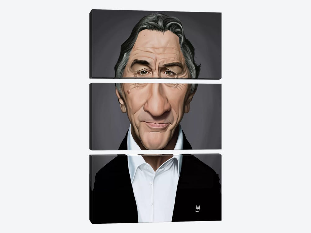Robert De Niro by Rob Snow 3-piece Canvas Print