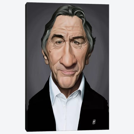 Robert De Niro Canvas Print #RSW165} by Rob Snow Canvas Art Print