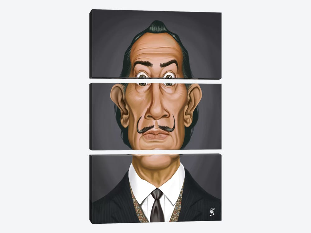 Salvador Dali II by Rob Snow 3-piece Canvas Art