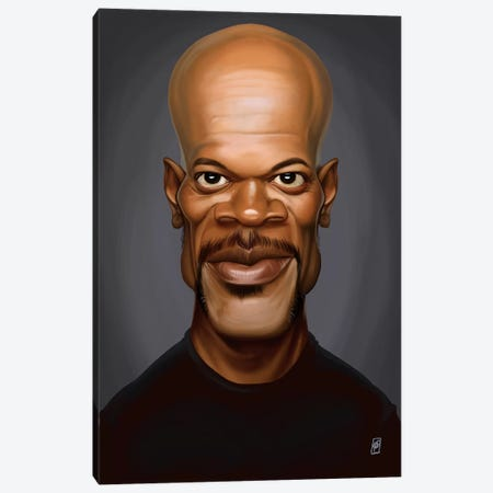 Samuel L. Jackson Canvas Print #RSW169} by Rob Snow Canvas Art