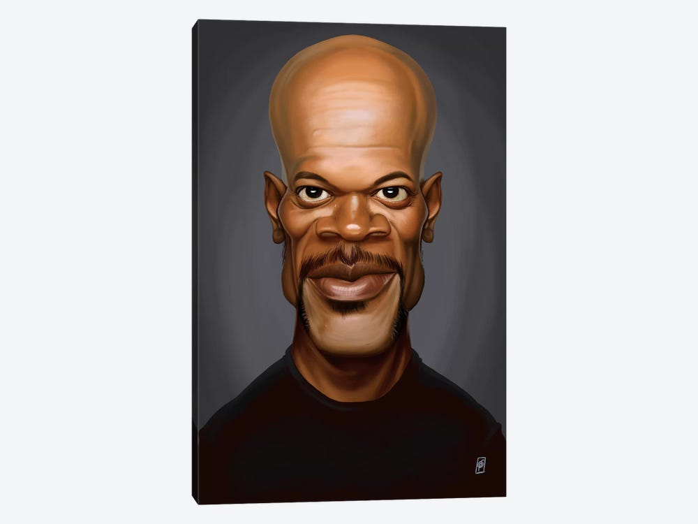 Samuel L. Jackson by Rob Snow 1-piece Canvas Print
