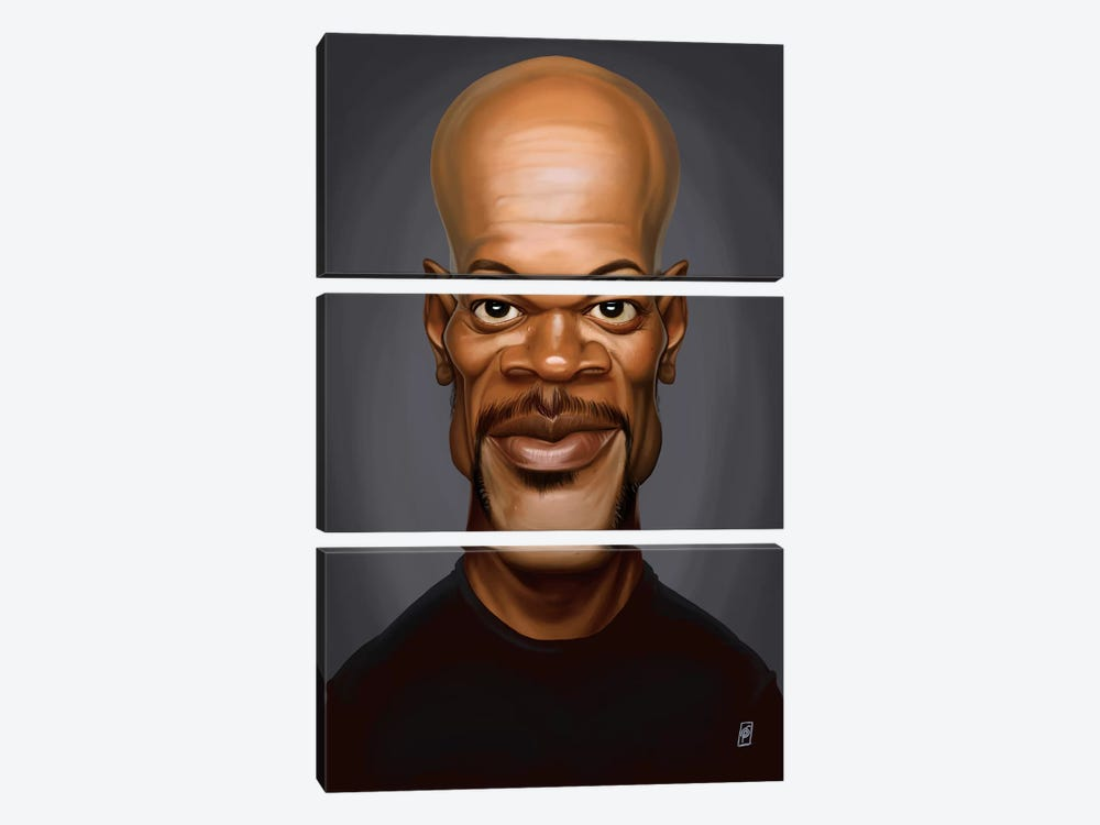 Samuel L. Jackson by Rob Snow 3-piece Canvas Print