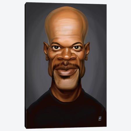 Samuel L. Jackson 3-Piece Canvas #RSW169} by Rob Snow Canvas Art