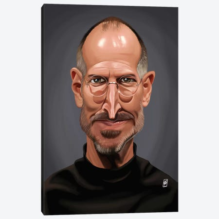 Steve Jobs Canvas Print #RSW170} by Rob Snow Canvas Art Print