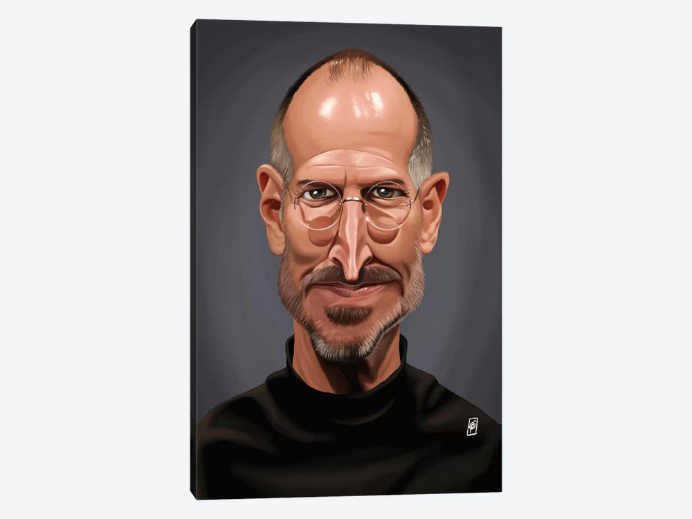 Celebrity Sunday Series: Steve Jobs by Rob Snow 1-piece Canvas Print