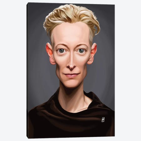 Tilda Swinton Canvas Print #RSW171} by Rob Snow Canvas Art Print