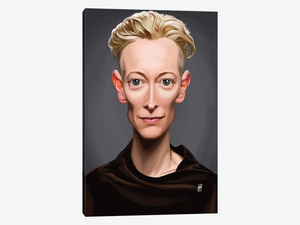 Tilda Swinton by Rob Snow 1-piece Canvas Art