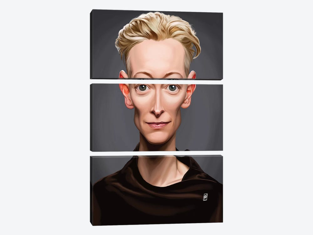 Tilda Swinton by Rob Snow 3-piece Canvas Art