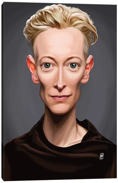 Tilda Swinton Canvas Art Print