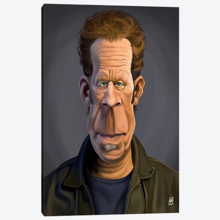 Tom Waits Canvas Print #RSW172} by Rob Snow Canvas Art Print
