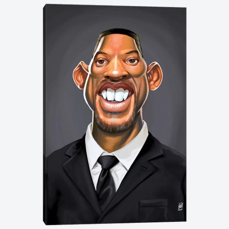 Will Smith Canvas Print #RSW173} by Rob Snow Art Print