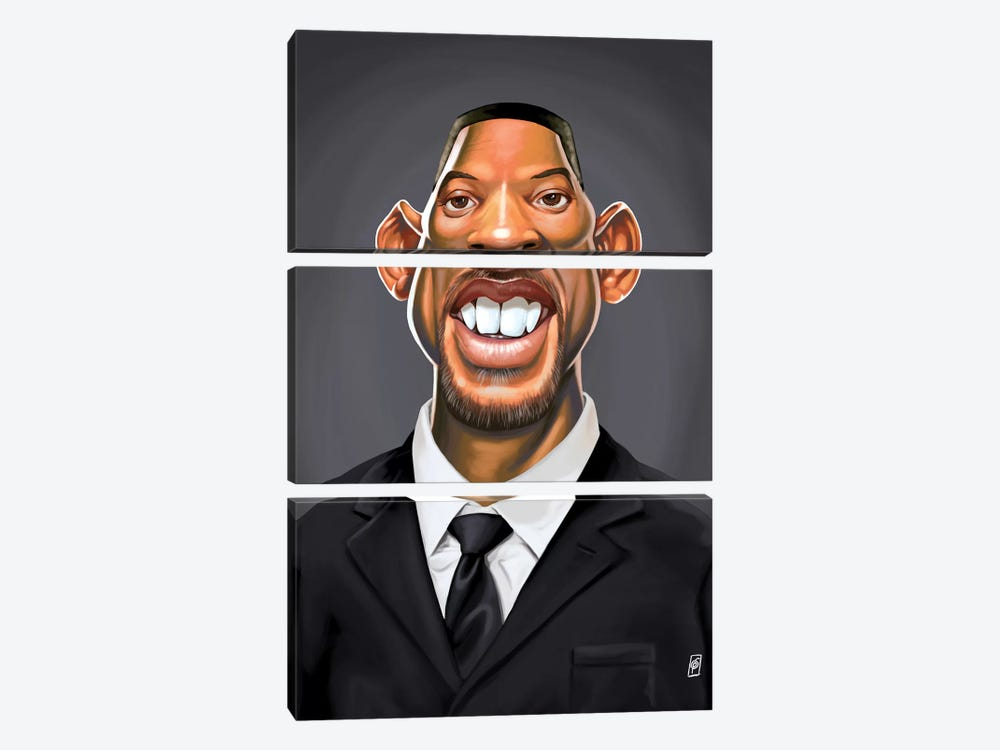 Will Smith by Rob Snow 3-piece Canvas Artwork
