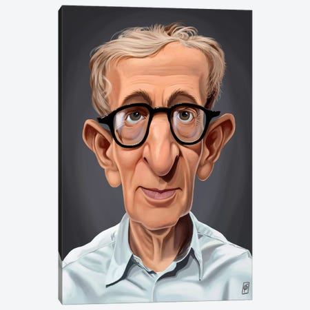 Woody Allen Canvas Print #RSW174} by Rob Snow Canvas Artwork