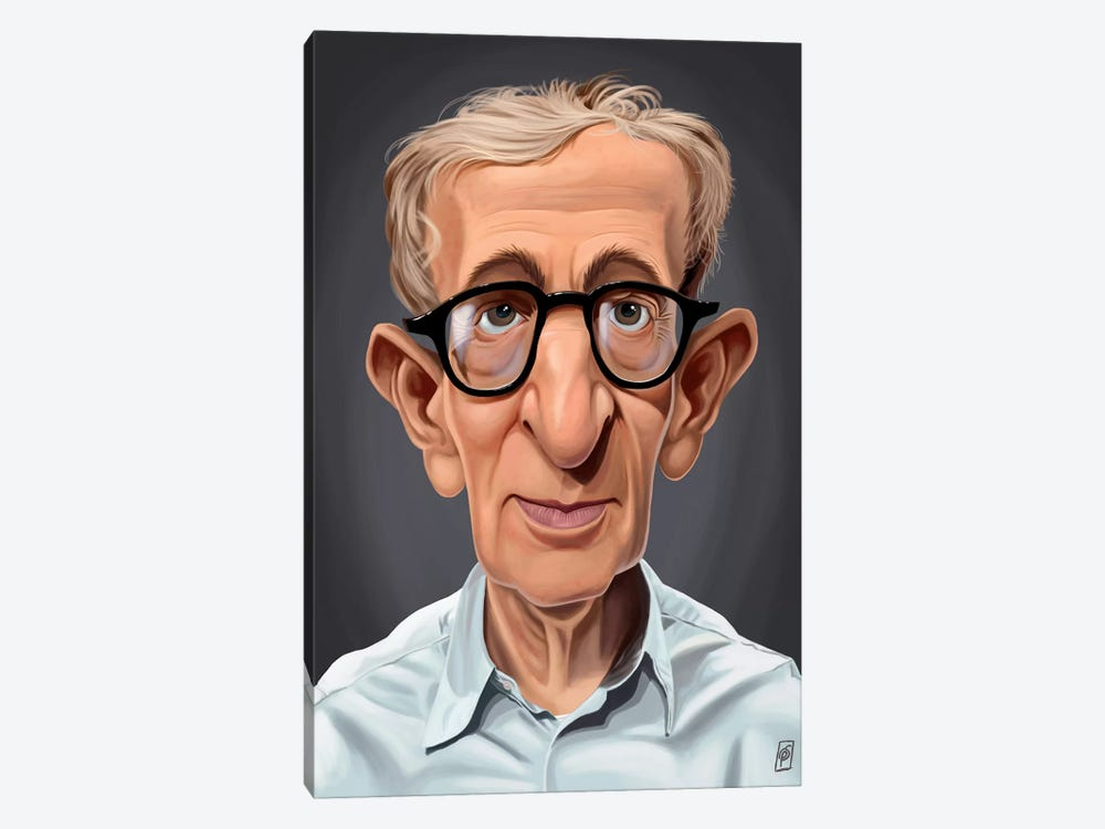 Woody Allen by Rob Snow 1-piece Art Print