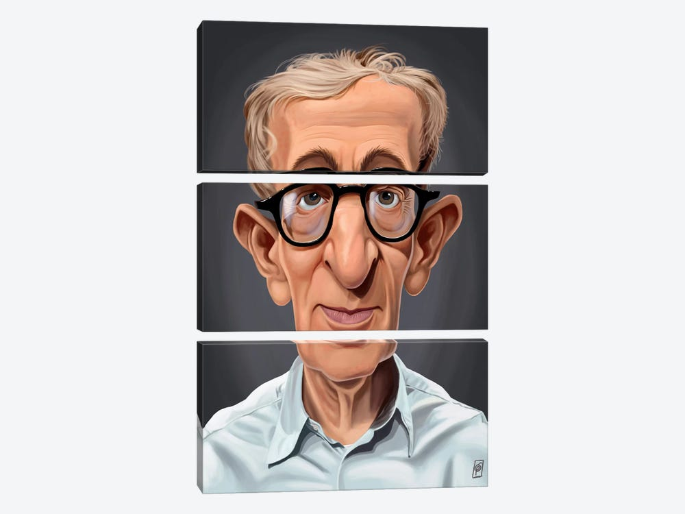 Woody Allen by Rob Snow 3-piece Canvas Print