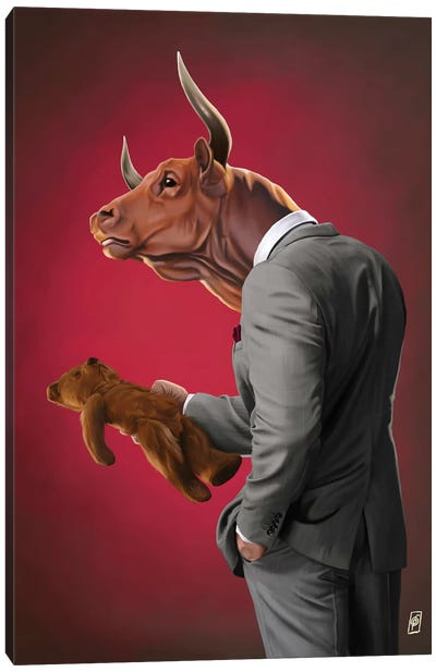 Suited Series: Bull Canvas Art Print