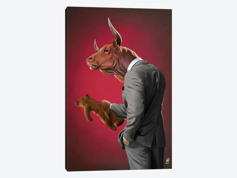 Suited Series: Bull by Rob Snow 1-piece Art Print