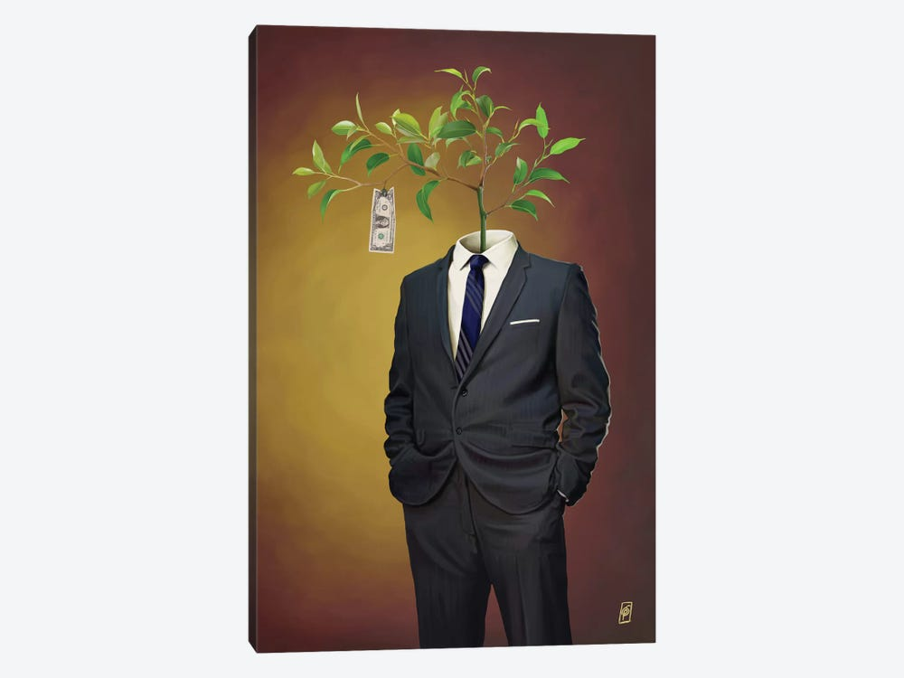 Suited Series: Growth by Rob Snow 1-piece Canvas Print