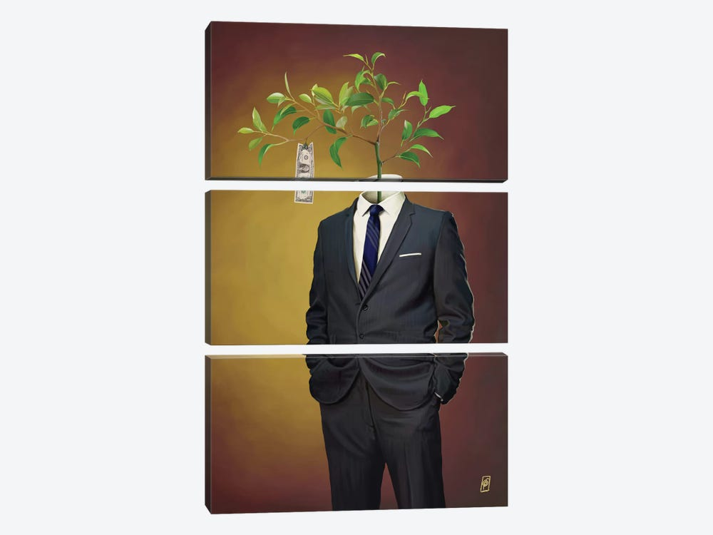 Suited Series: Growth by Rob Snow 3-piece Canvas Art Print