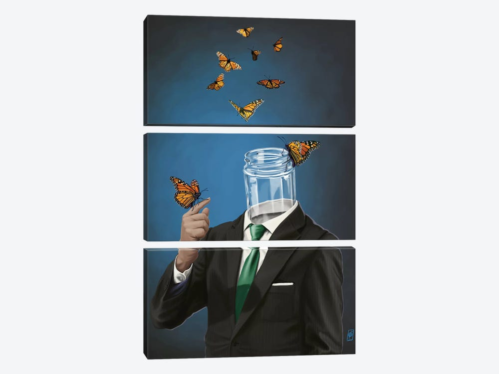 Suited Series: Jar by Rob Snow 3-piece Canvas Art