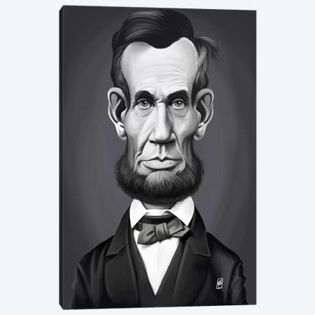 Abraham Lincoln Canvas Print #RSW185} by Rob Snow Canvas Print
