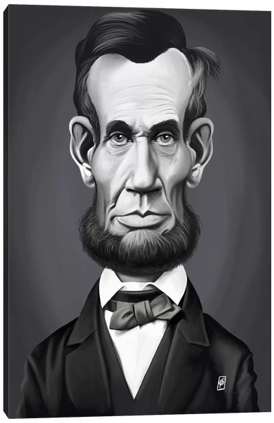 Vintage Celebrity Sunday Series: Abraham Lincoln Canvas Print #RSW185