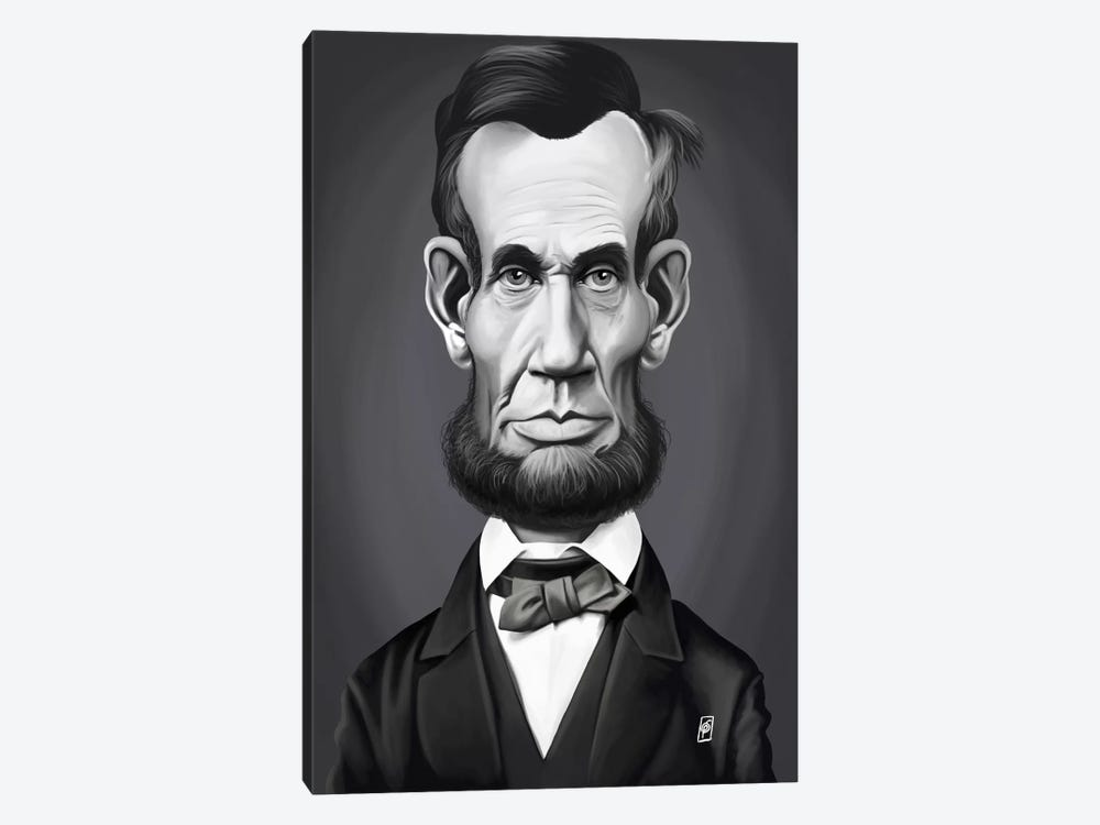 Vintage Celebrity Sunday Series: Abraham Lincoln by Rob Snow 1-piece Canvas Art Print