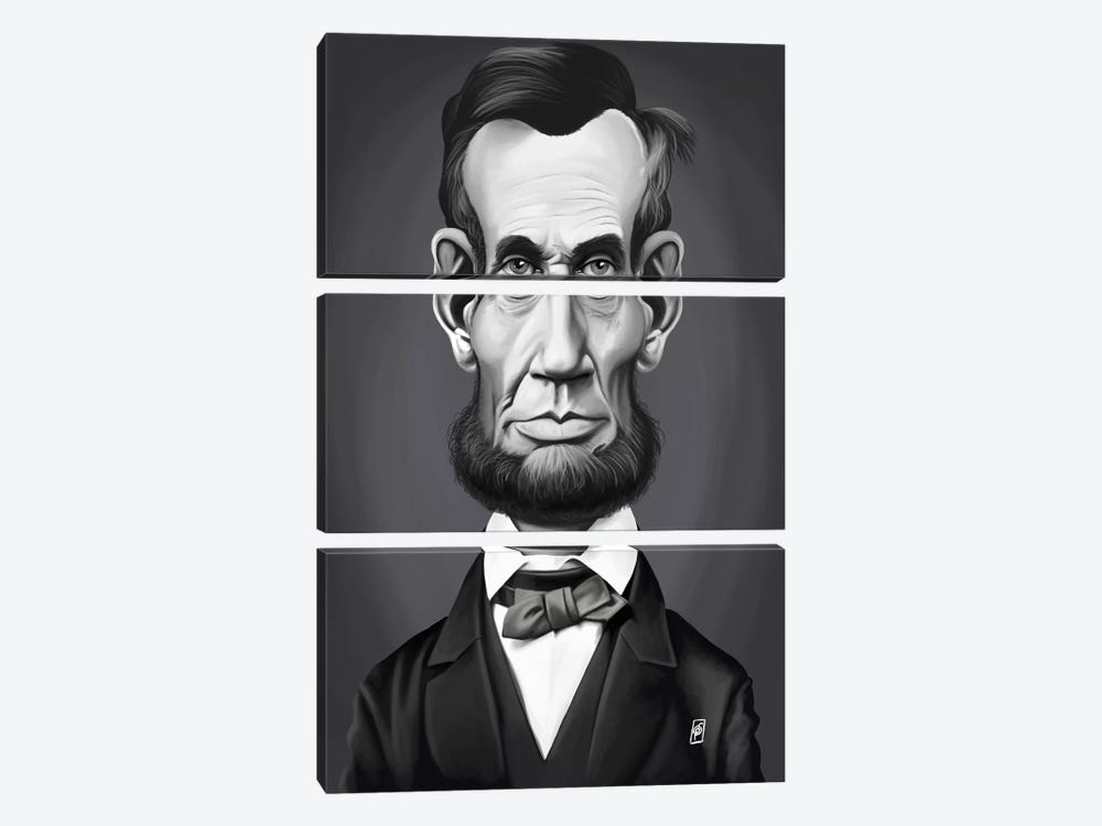 Abraham Lincoln by Rob Snow 3-piece Art Print